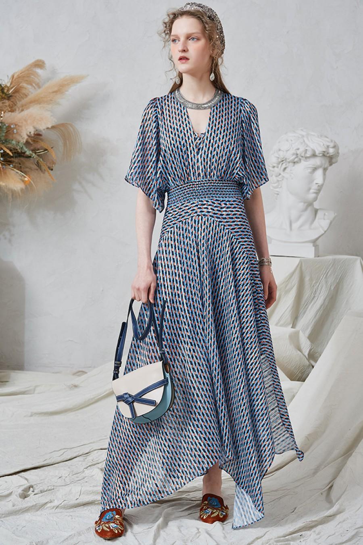 Nadia Mixed Check Maxi Dress
