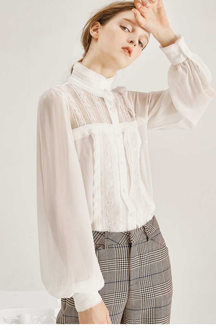 BELL SLEEVE LACE BODY SHIRT