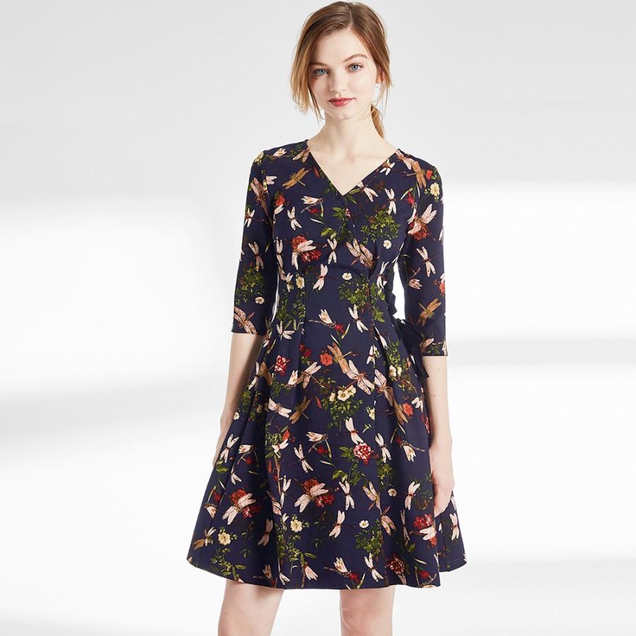 Dragonfly print dress
