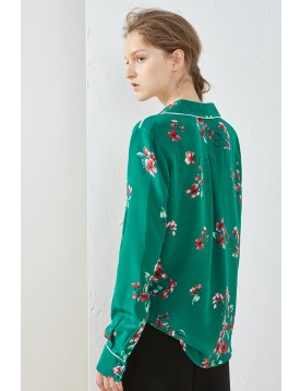 Floral Print Pajama Shirt