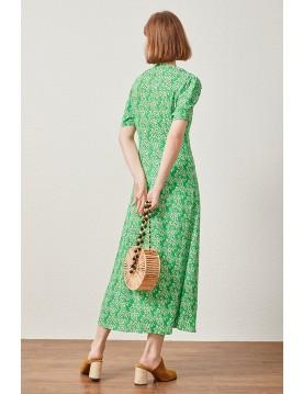 Daisy Printed Button Down Dress