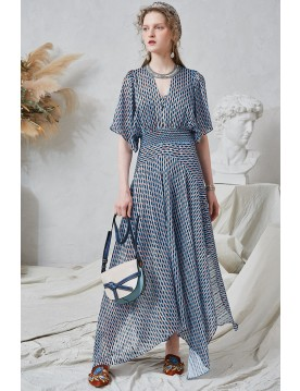 Nadia Mixed Check Maxi Dress