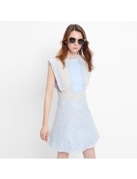Siena Ruffle Lace Dress